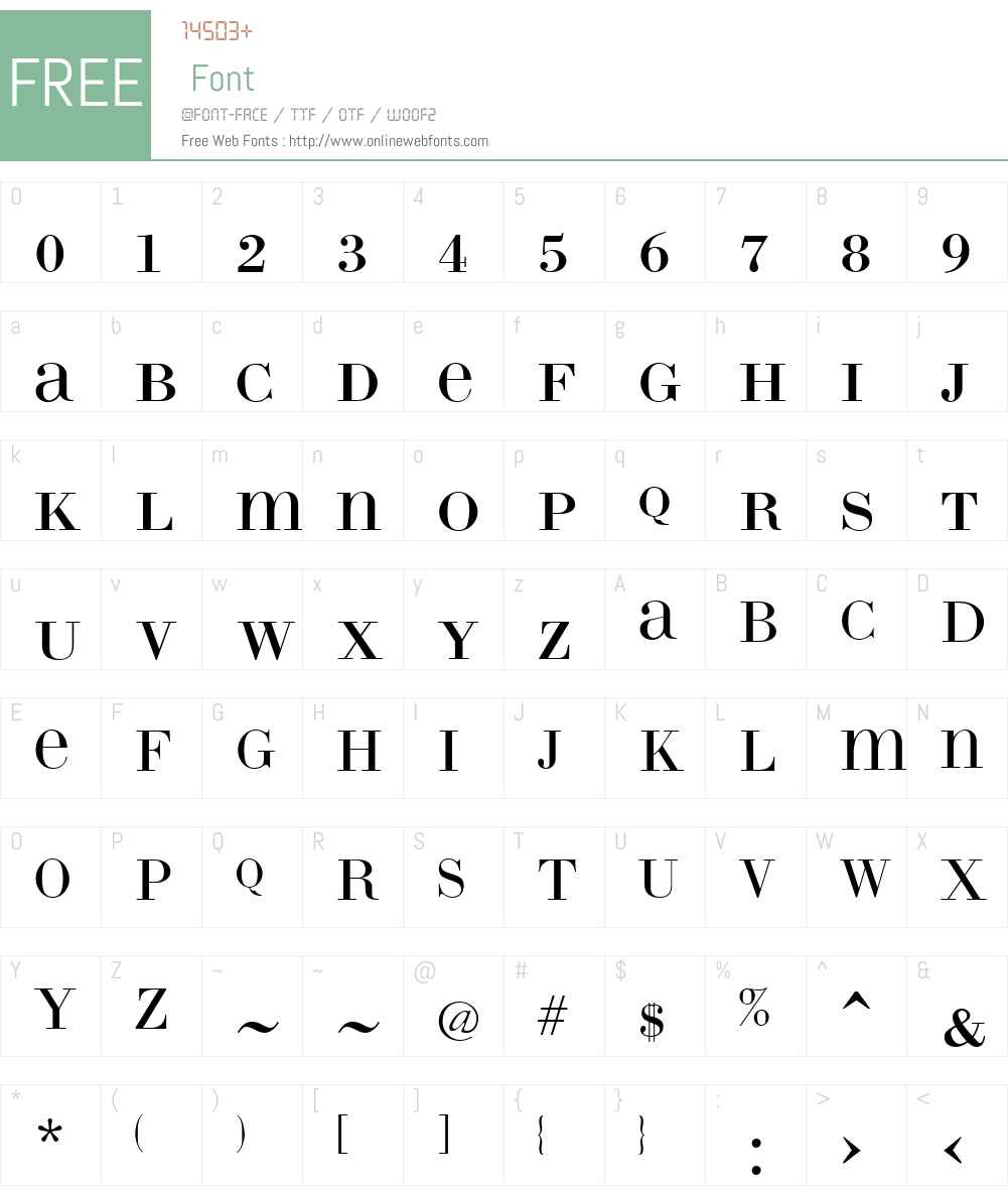 LTCBodoni175W00-26Unicase Font Screenshots