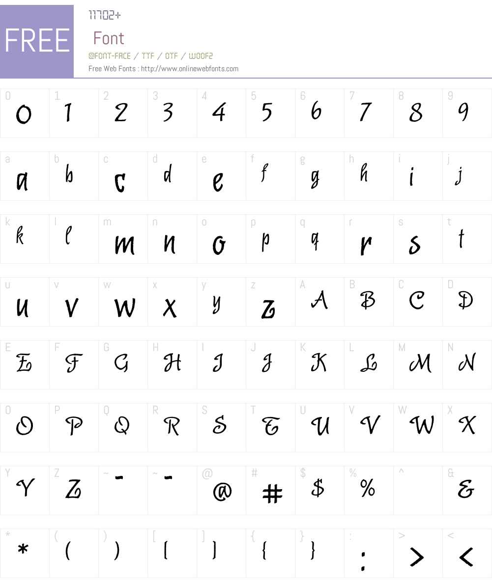 Malambo OT Font Screenshots