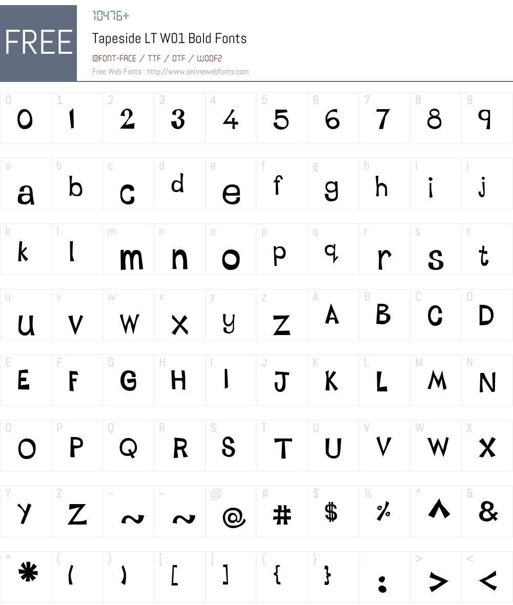 TapesideLTW01-Bold Font Screenshots