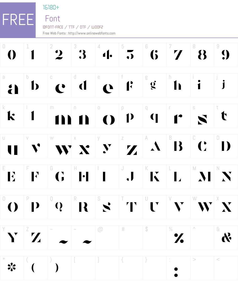 Tostada Font Screenshots