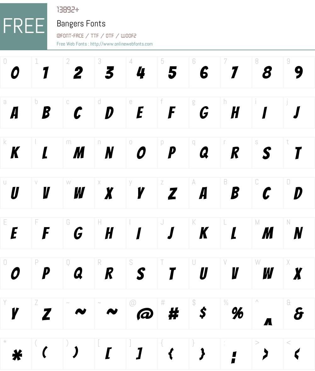 Bangers Font Screenshots