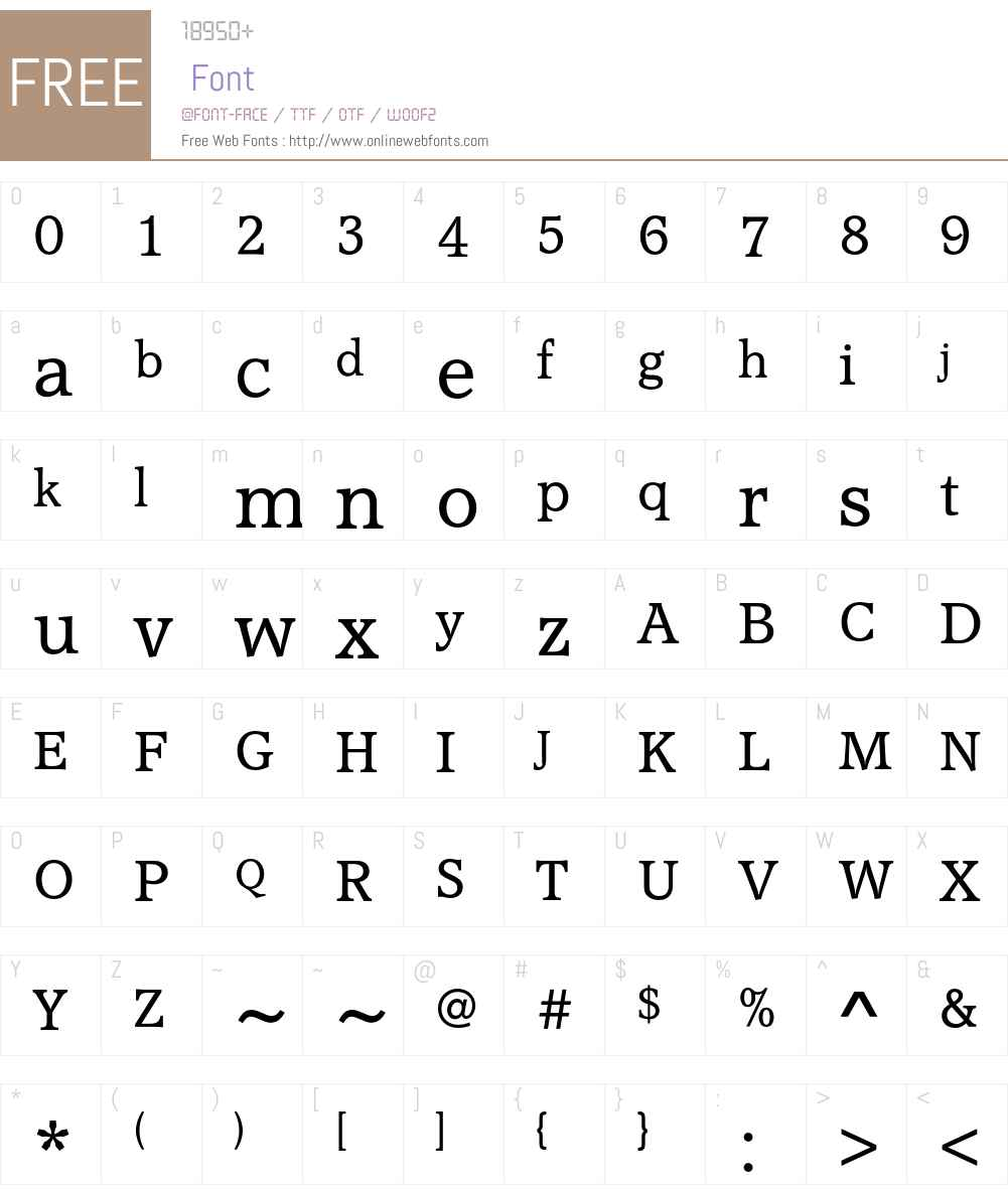 AccoladeEF Font Screenshots