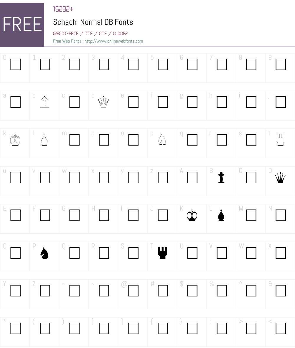 Schach DB Font Screenshots