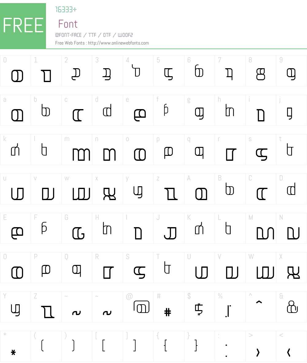Jakone Font Screenshots