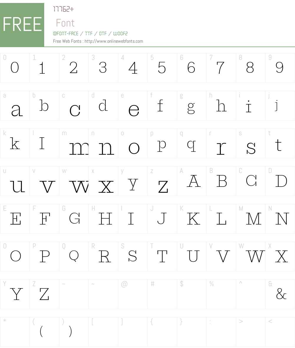 ProtoSlabWeb ExtraLight Font Screenshots