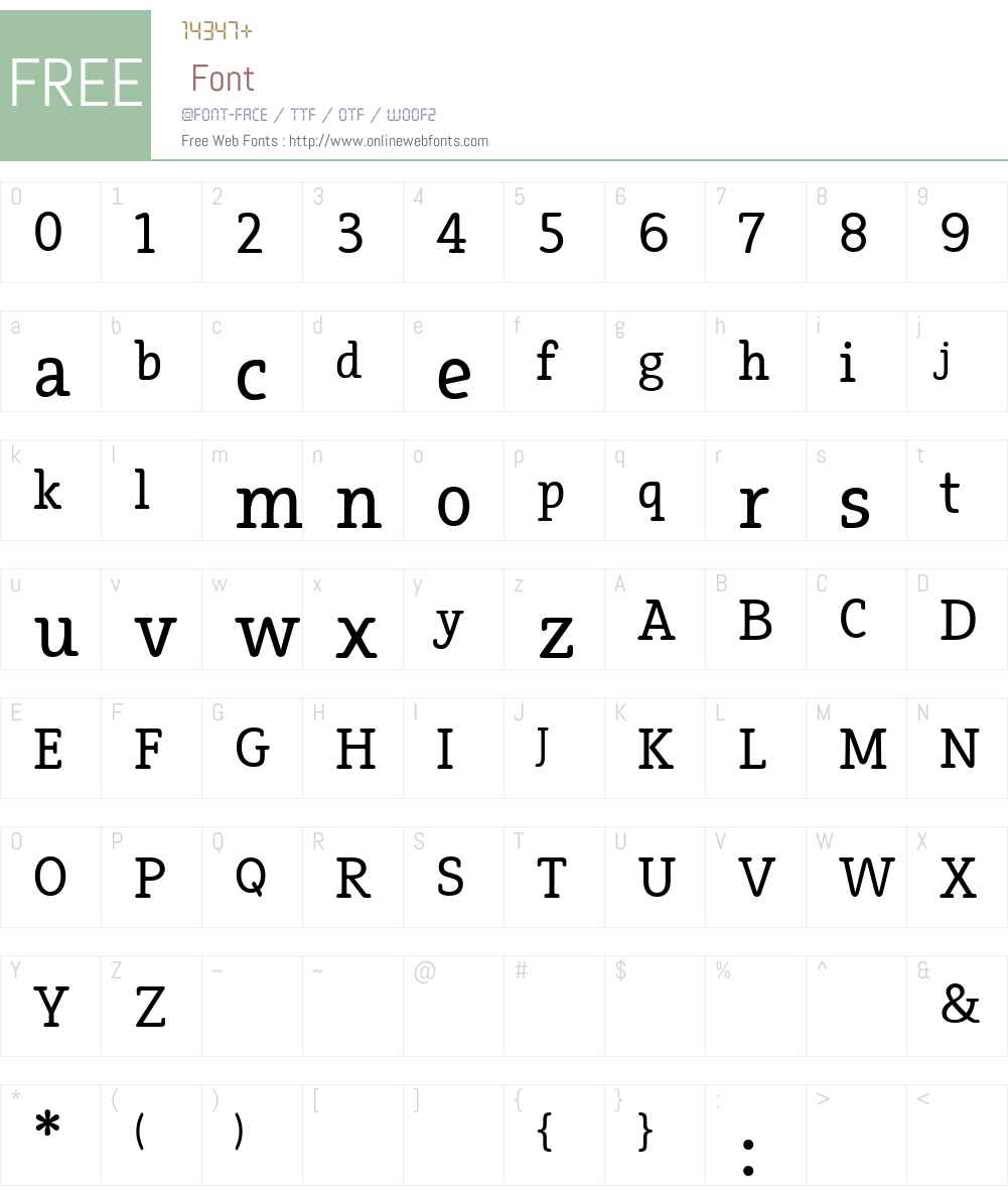 Efja Font Screenshots