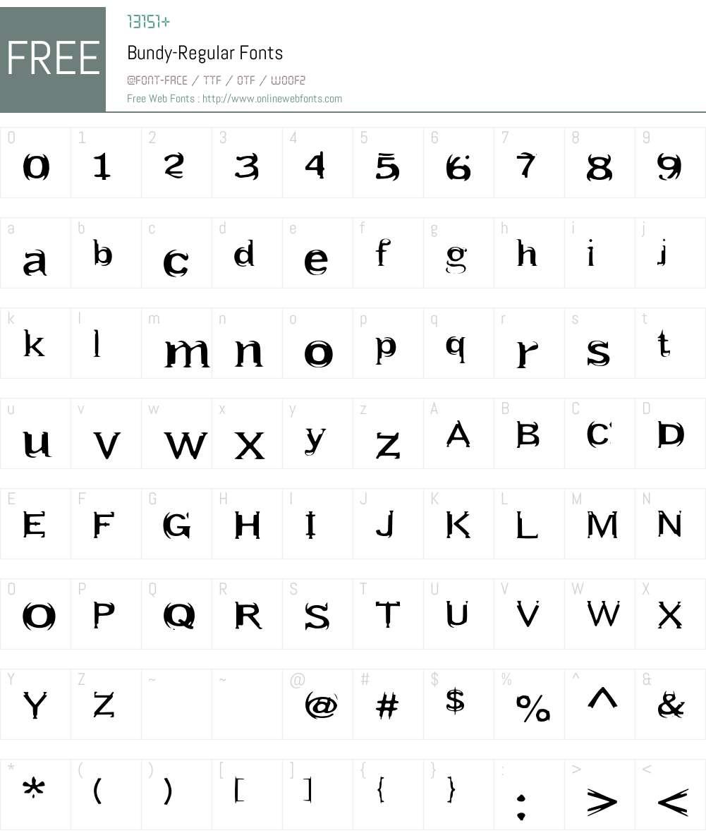 Bundy Font Screenshots
