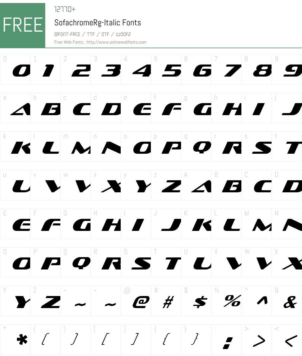 Sofachrome Rg Font Screenshots