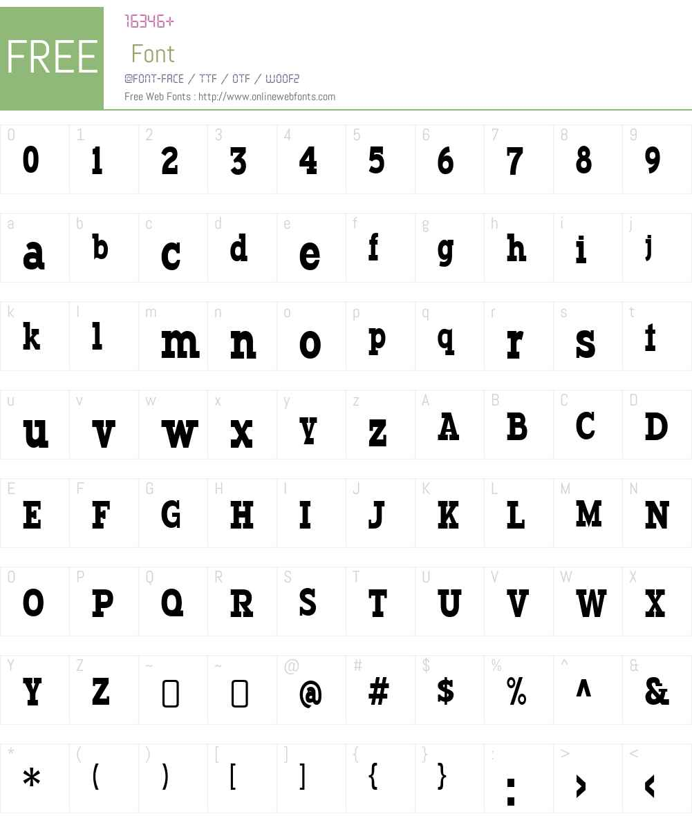 TypodermicW00-Regular Font Screenshots