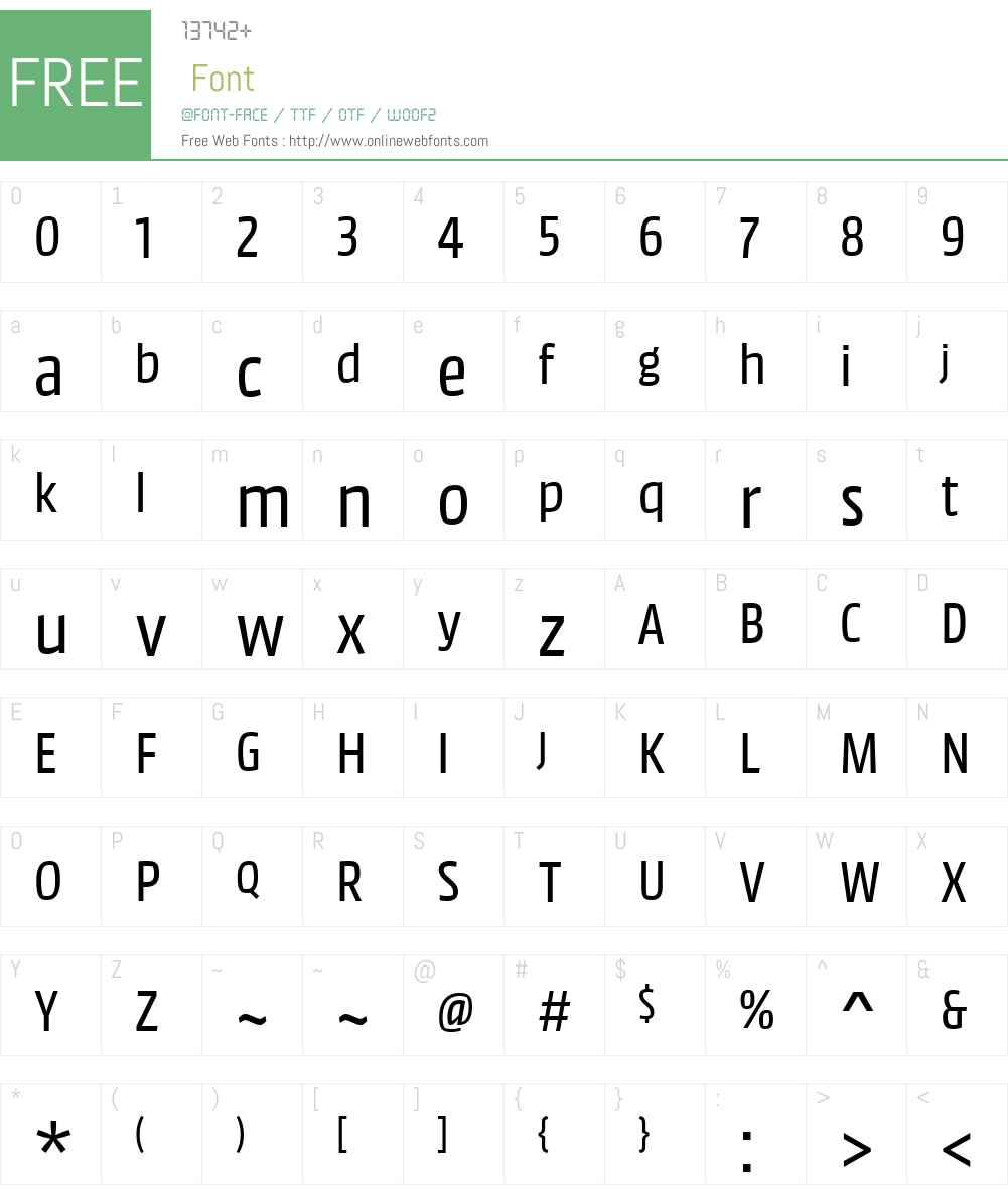 MM Text Pro WebTT Semilight Font Screenshots