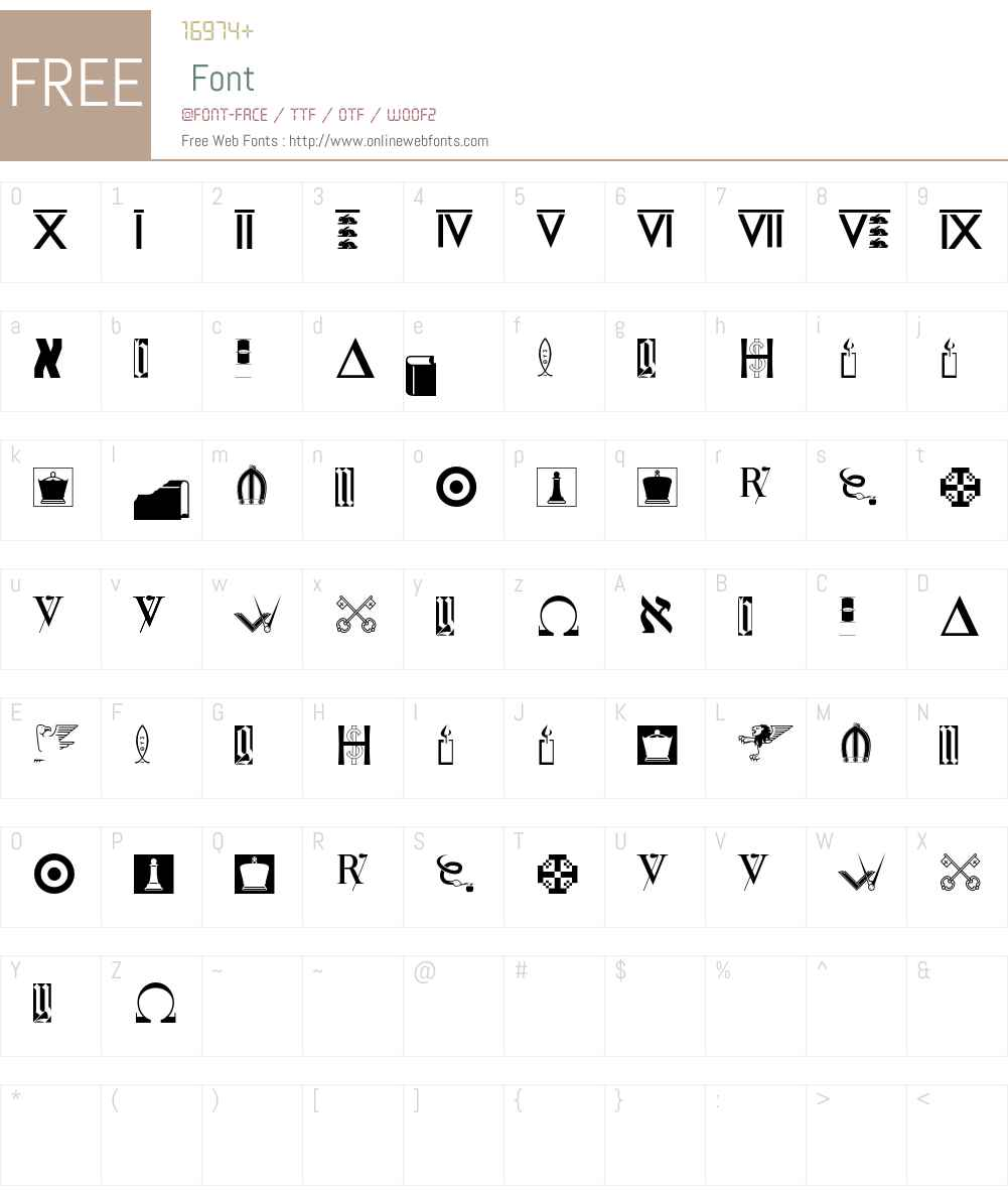 Ushaw Font Screenshots