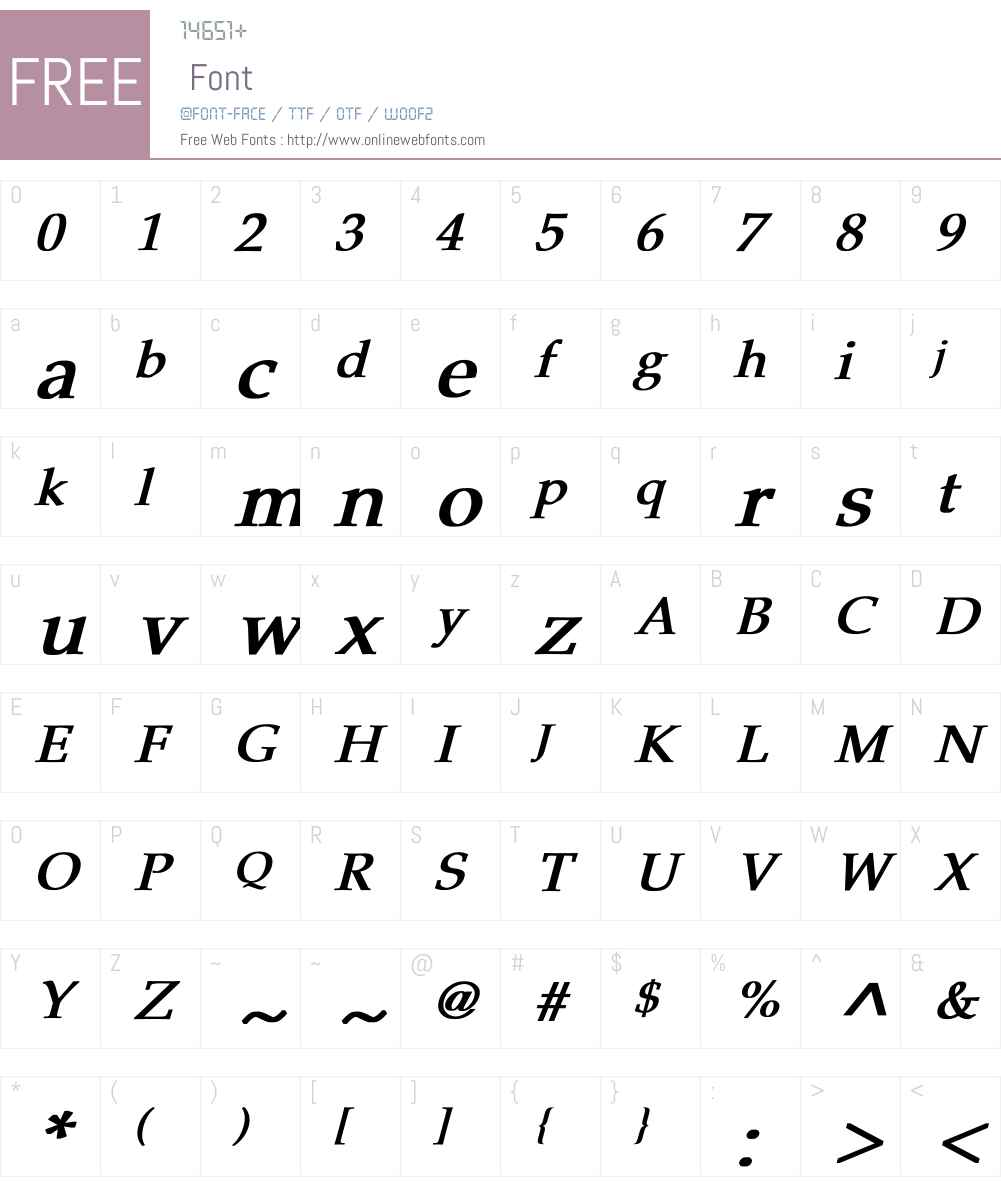 Pheasant Font Screenshots