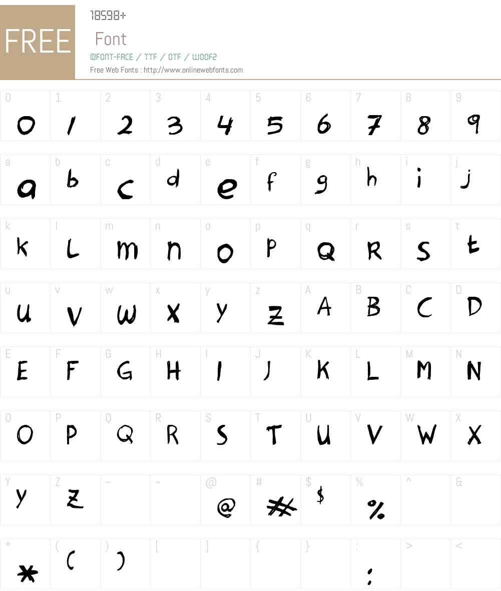Hanoded Font Screenshots