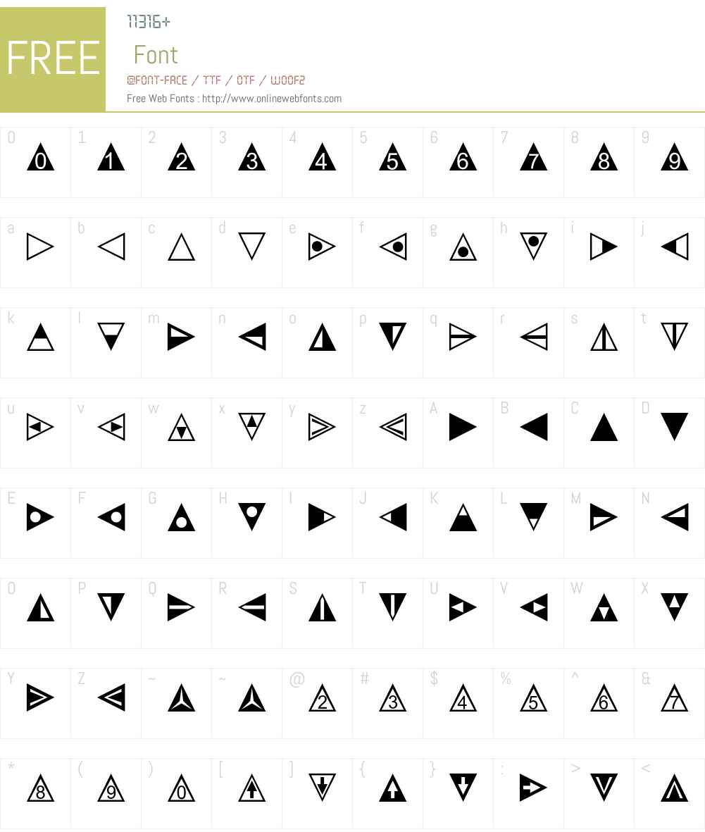 LinotypeTapestry-Triangle Font Screenshots