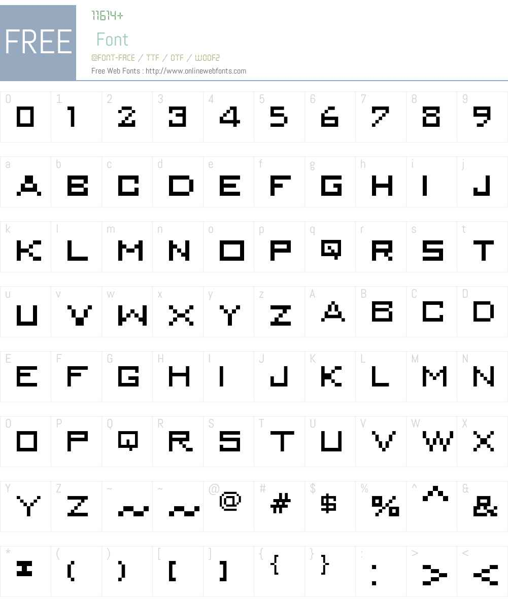 MiniKongo Font Screenshots