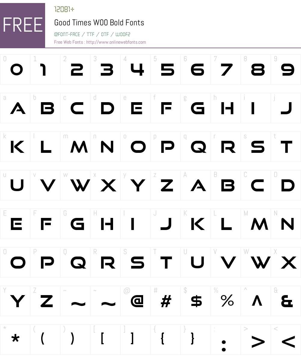 GoodTimesW00-Bold Font Screenshots