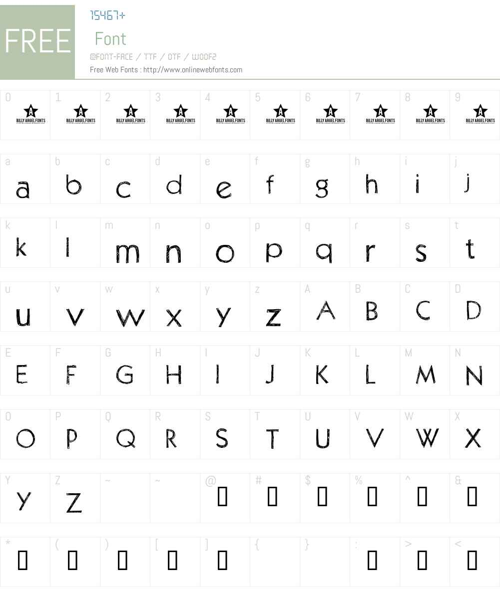 PositivA Font Screenshots