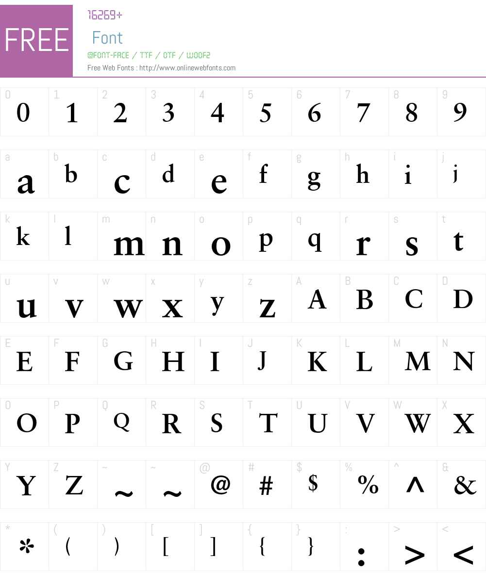 SabonGreek Font Screenshots