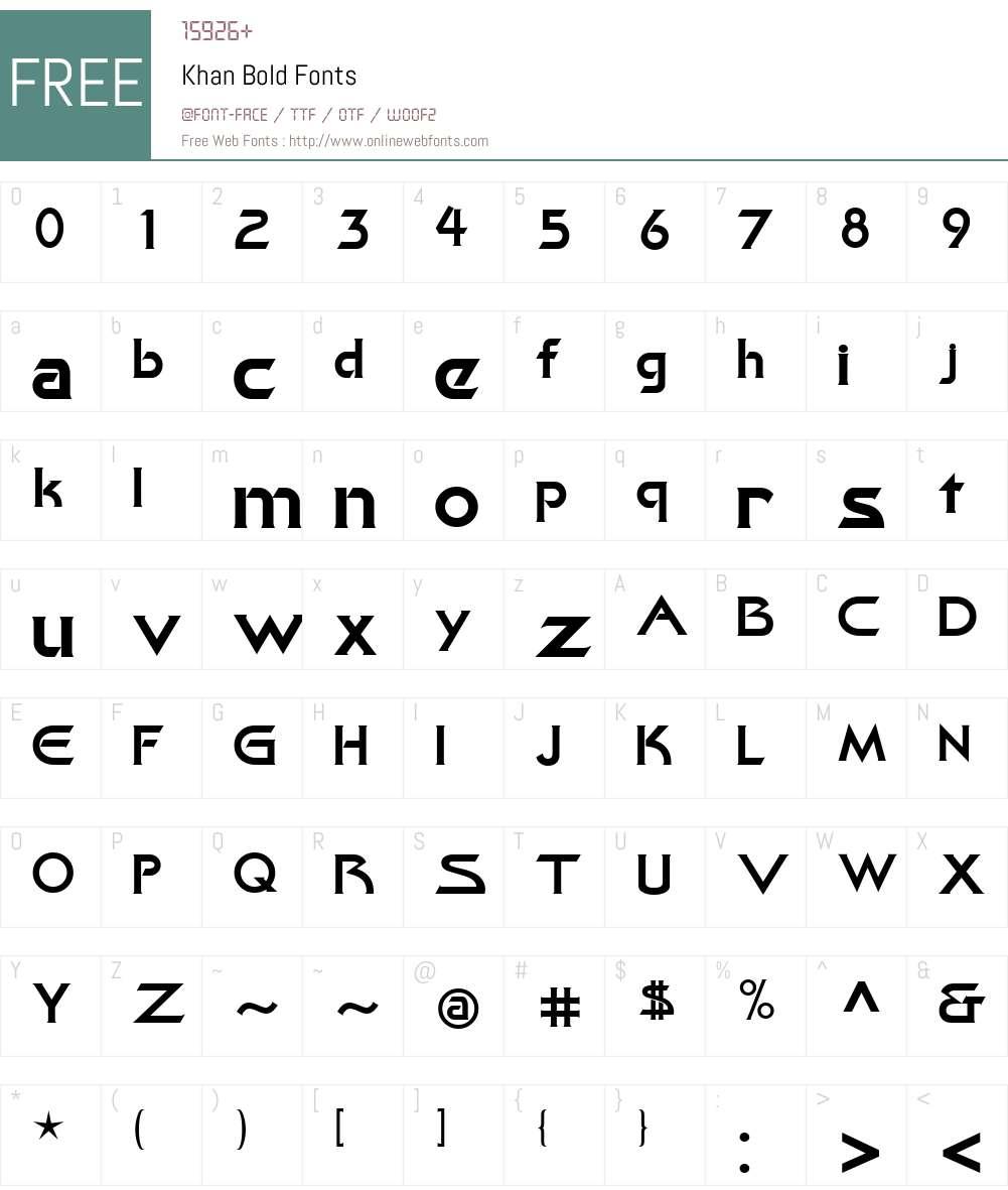 Khan Font Screenshots