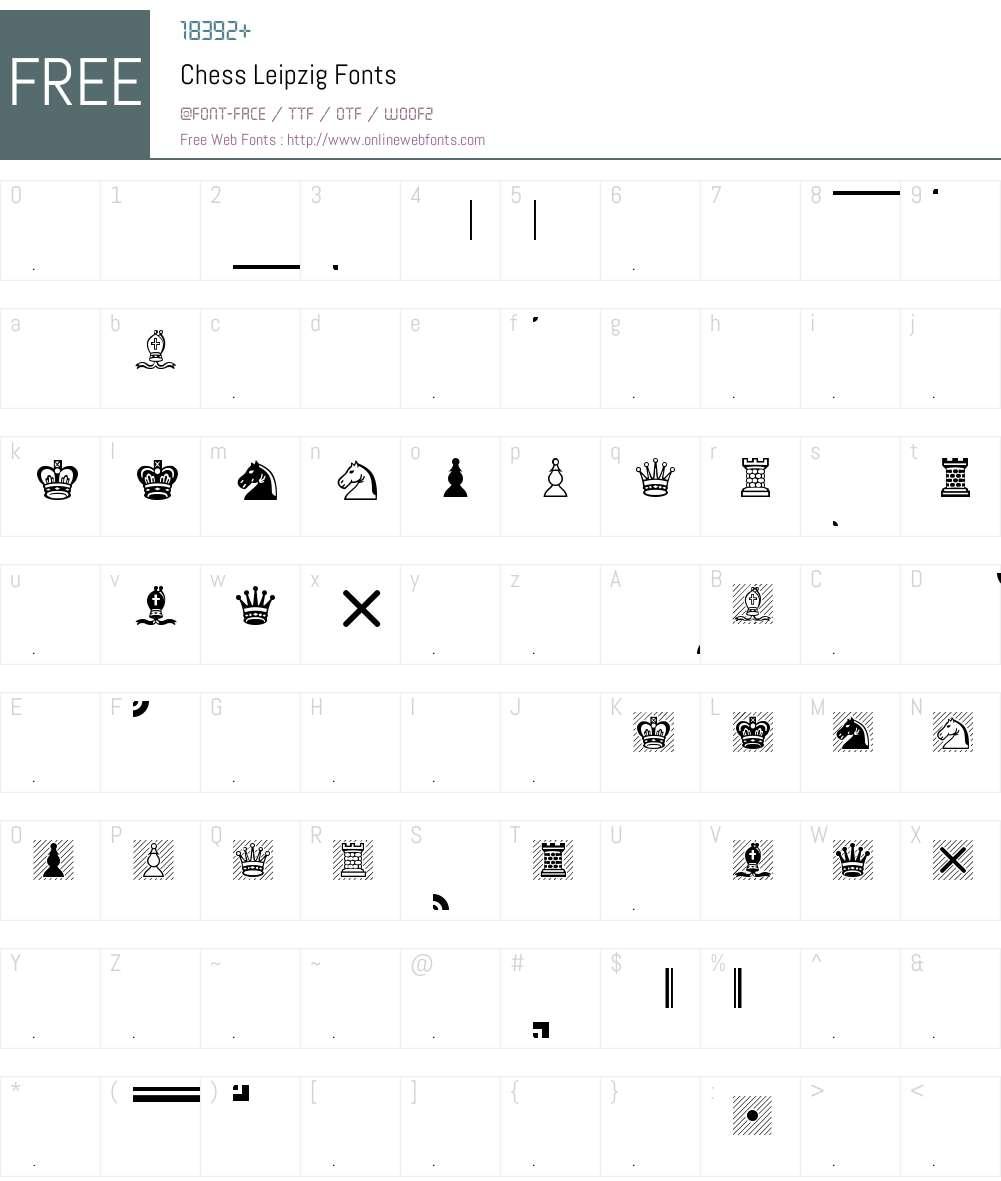 Chess Leipzig Font Screenshots