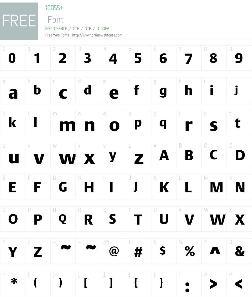 DTLArgoT Font Screenshots
