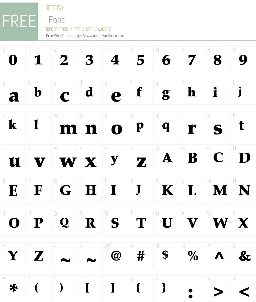 PalatinoLTW05-Black Font Screenshots