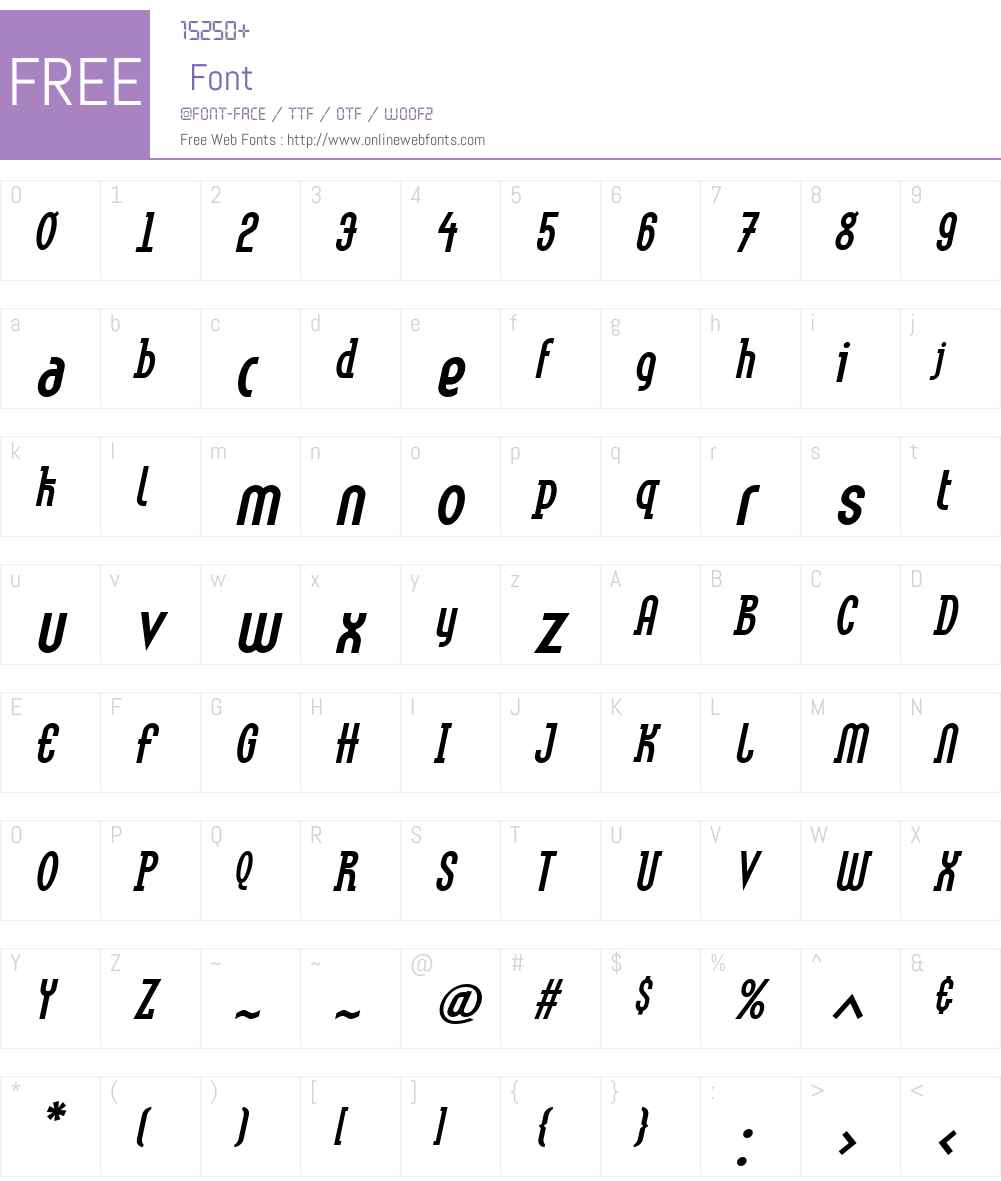 LinotypeMethodW01-BoldObl Font Screenshots