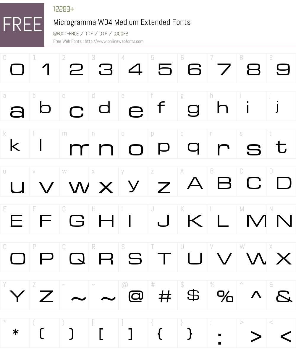 Microgramma Font Screenshots