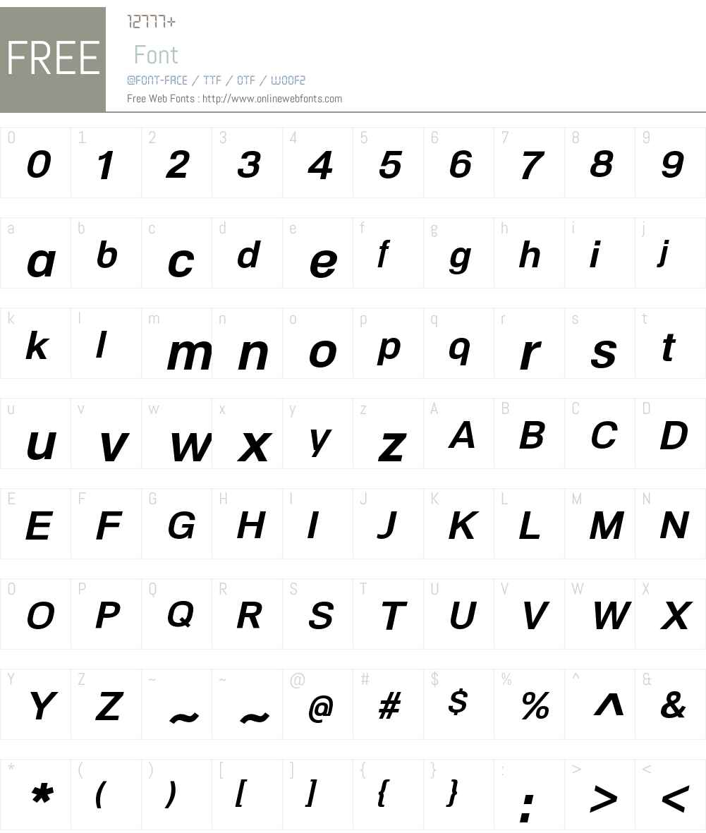NeoGramW00-BoldItalic Font Screenshots