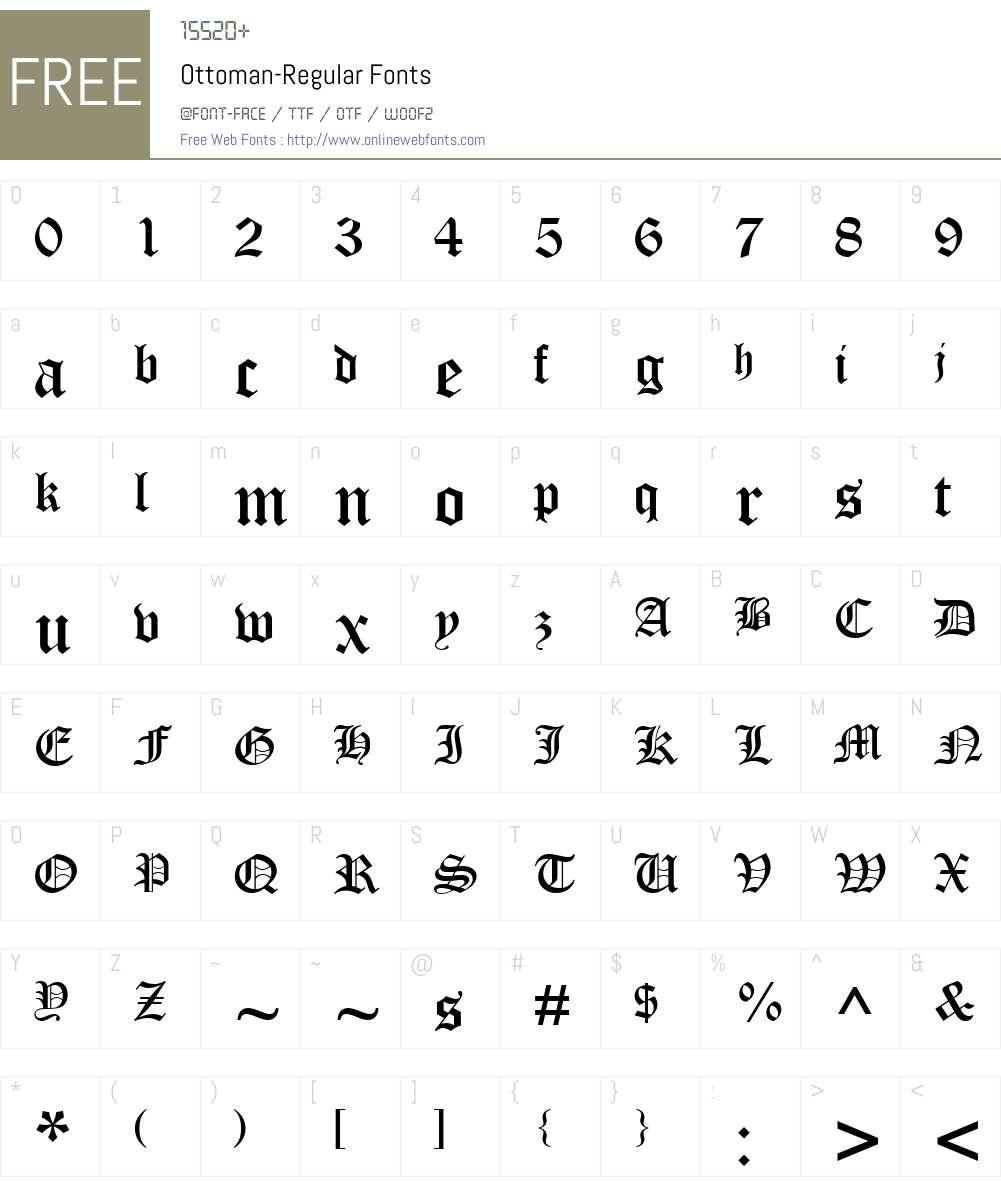 Ottoman Font Screenshots
