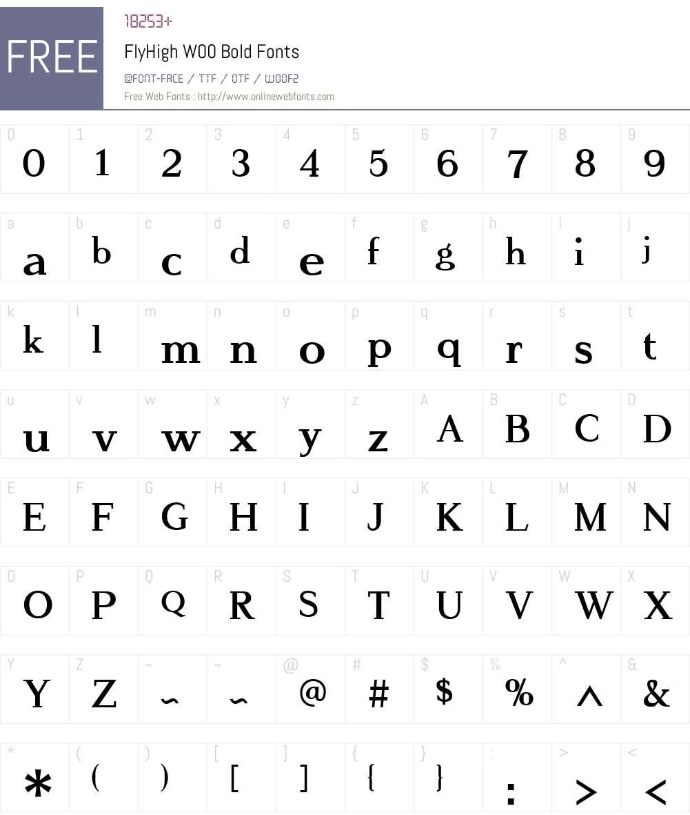 FlyHighW00-Bold Font Screenshots