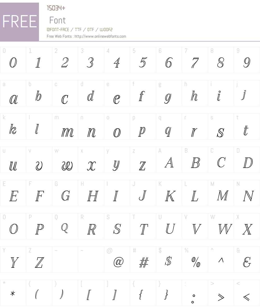 AzoteW00-Italic Font Screenshots