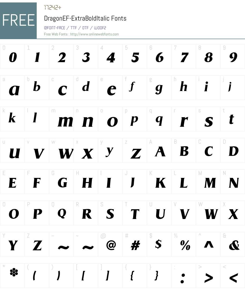 DragonEF Font Screenshots