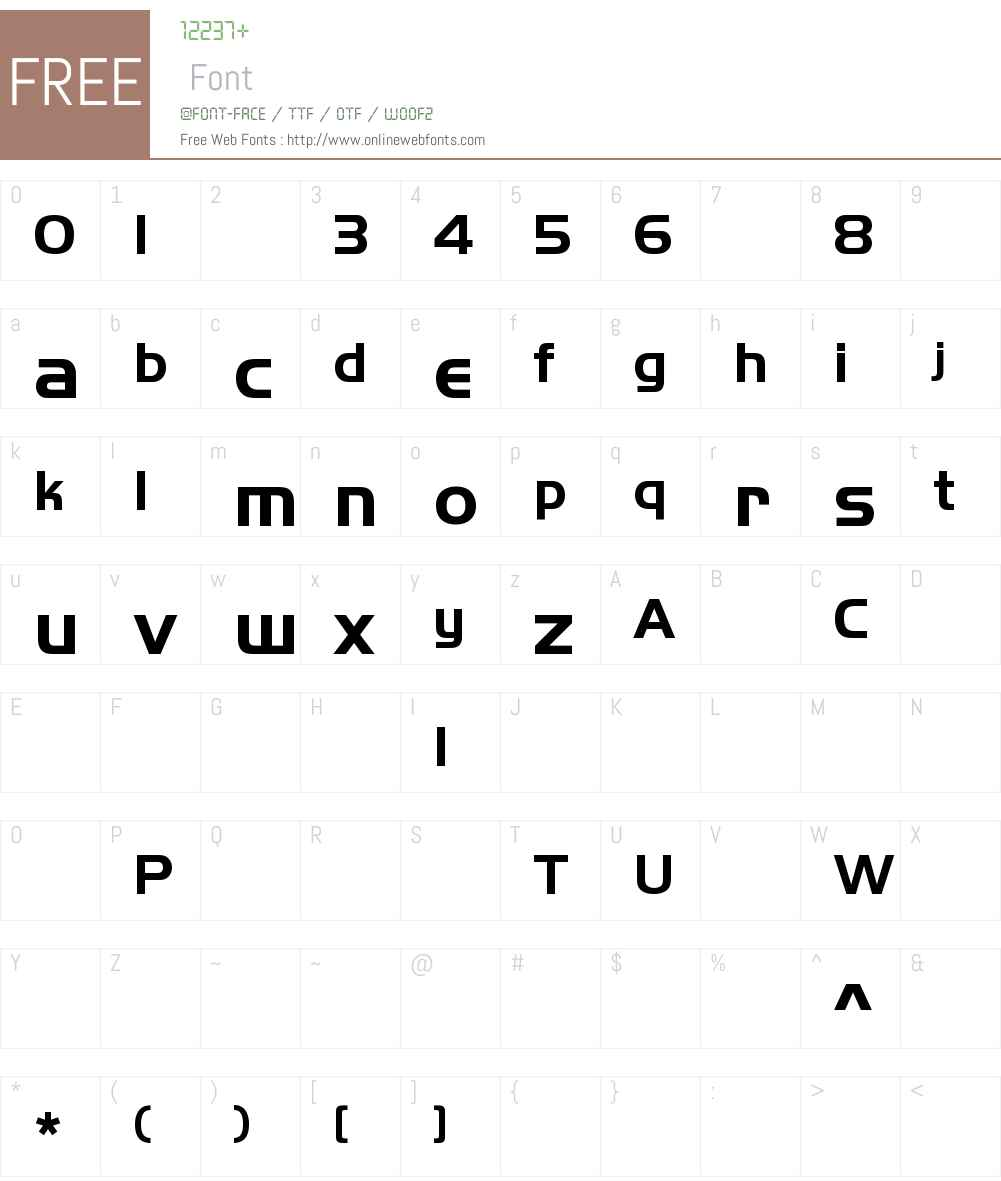 HandelGothicLT-Bold Font Screenshots