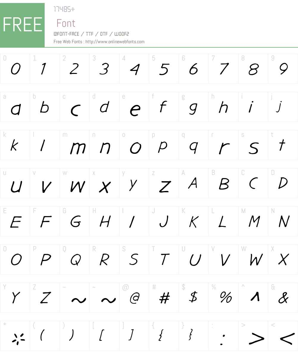 Gargle Font Screenshots