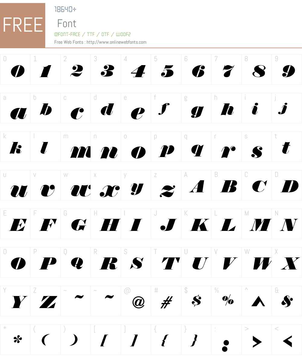 ThorowgoodW01-RegularItD Font Screenshots