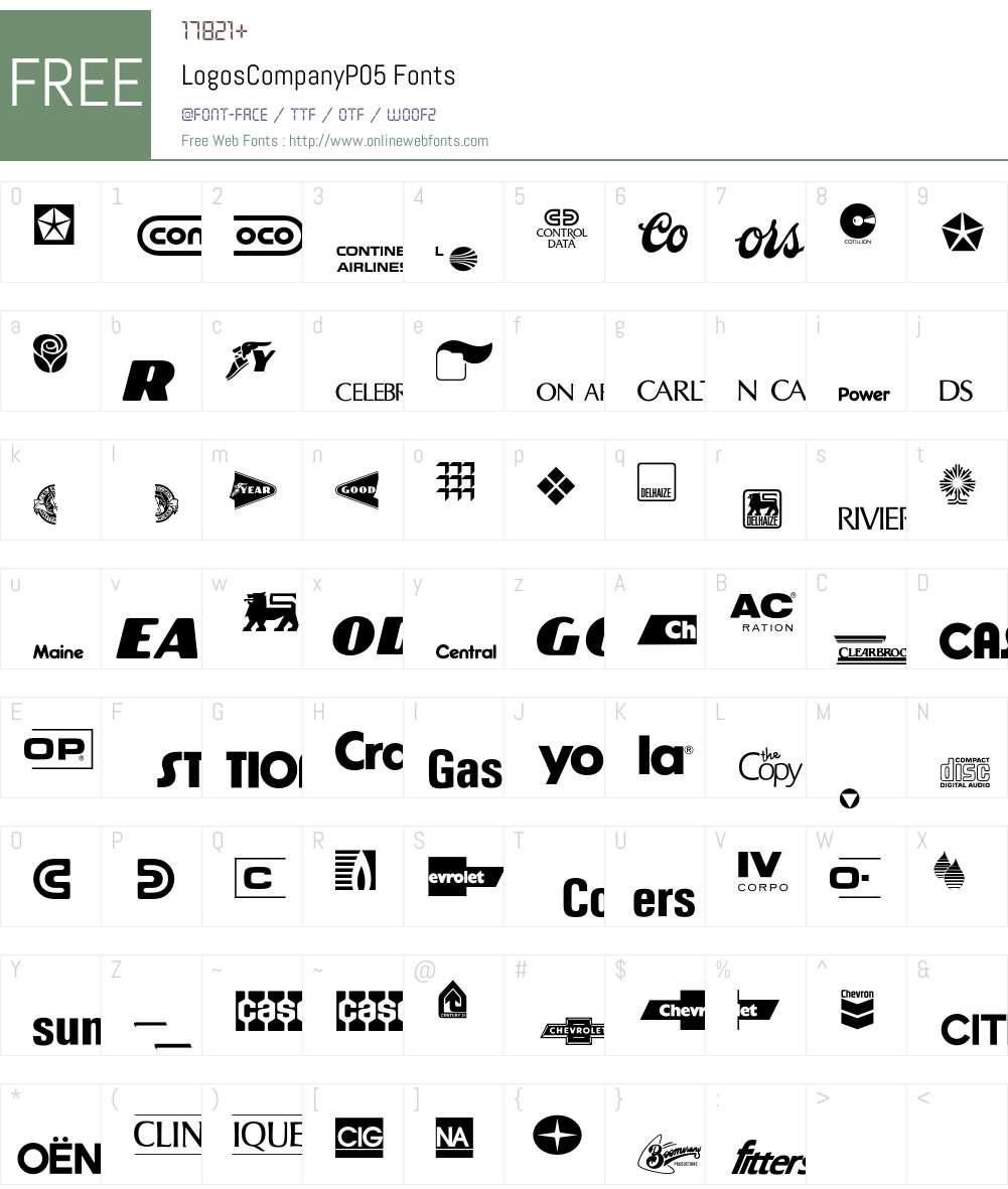 LogosCompany Font Screenshots