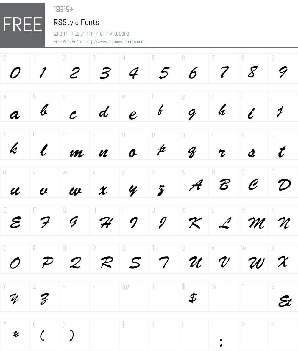 RSStyle Font Screenshots