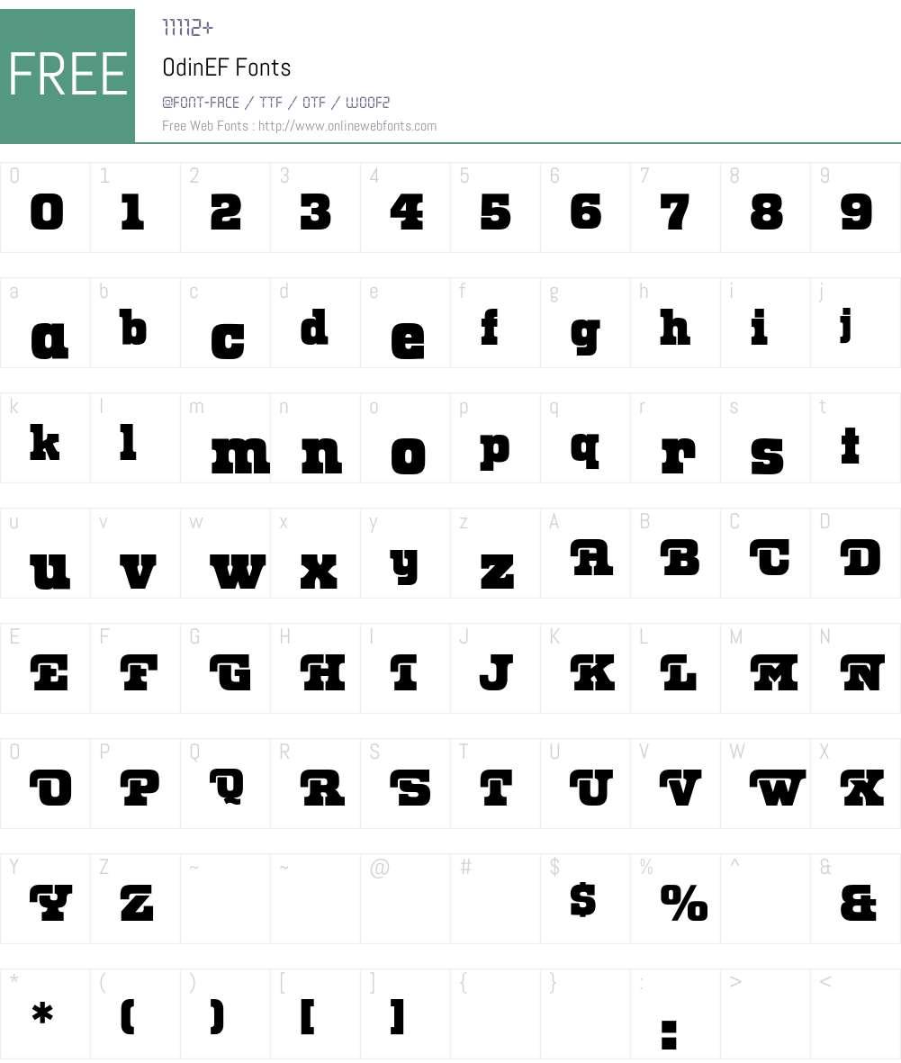 OdinEF Font Screenshots