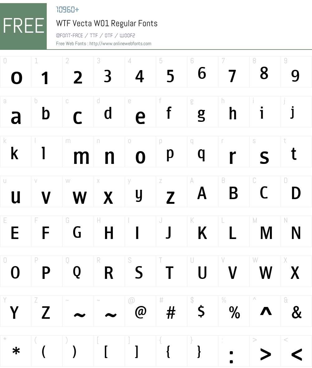 WTFVectaW01-Regular Font Screenshots
