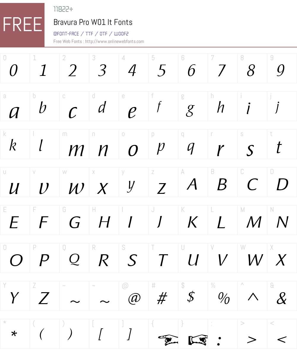 BravuraProW01-It Font Screenshots