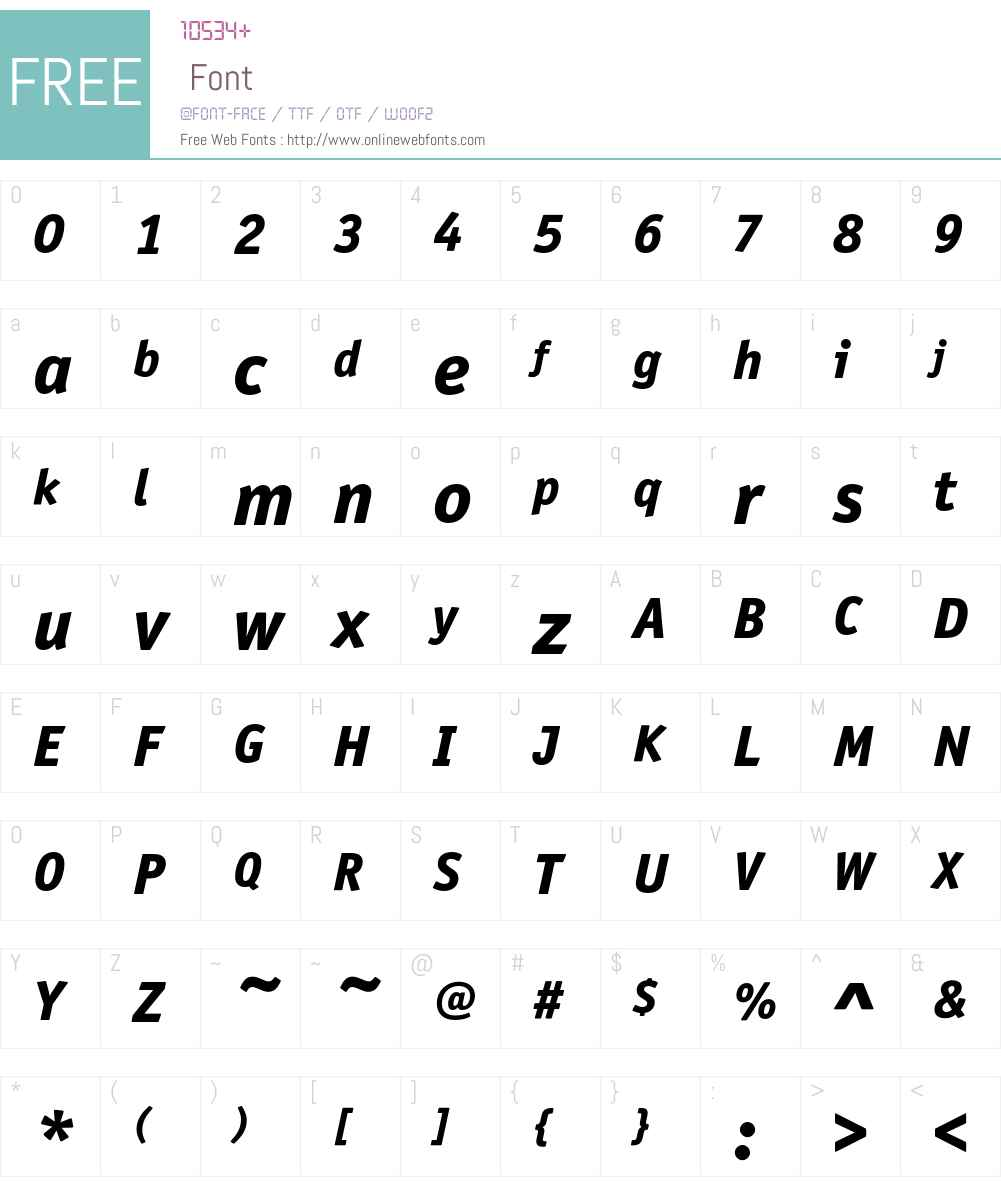 OfficinaSansITC Font Screenshots