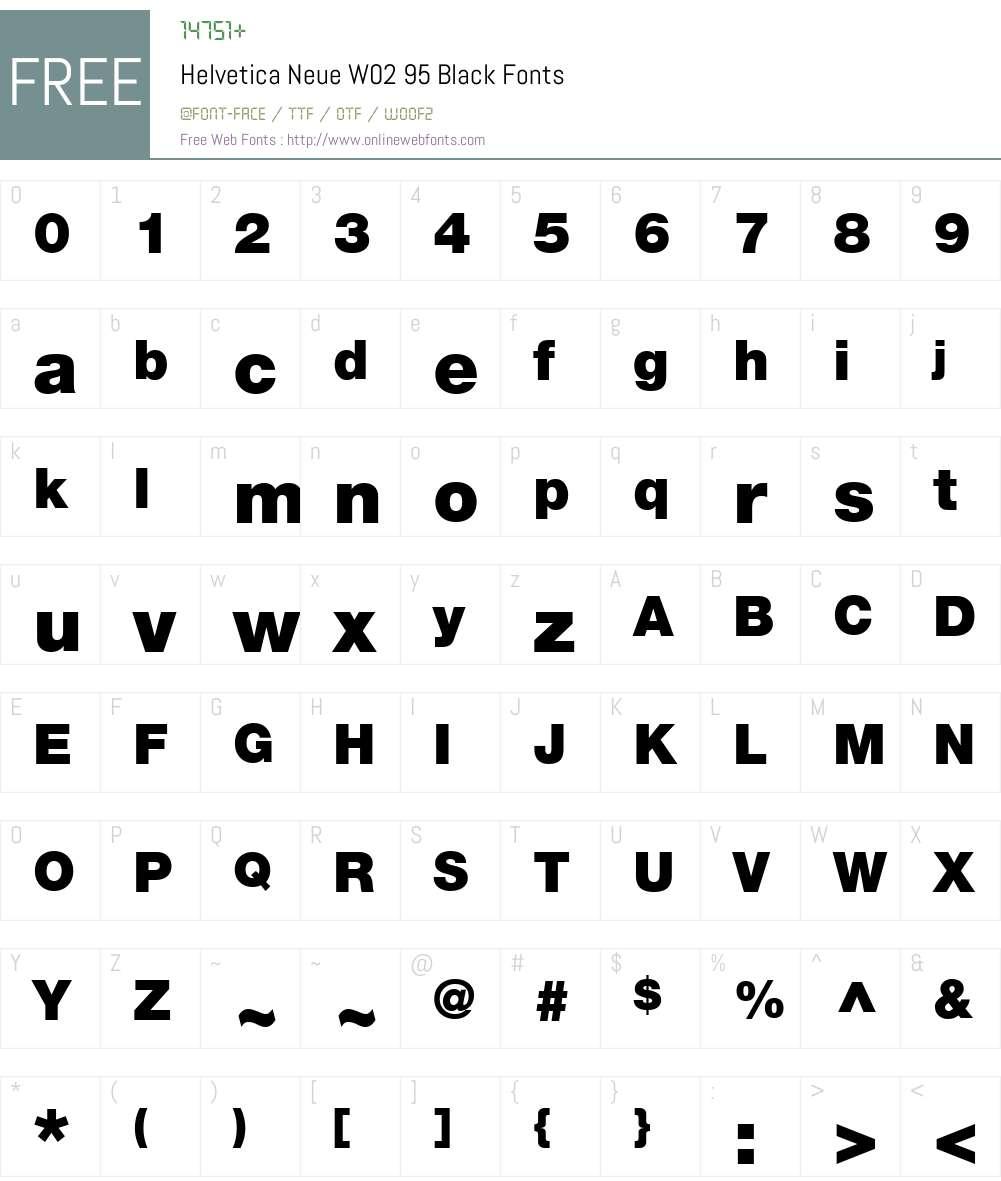 HelveticaNeueW02-95Black Font Screenshots