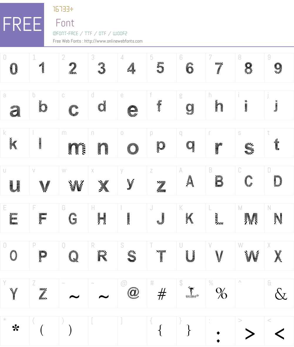 PAWLUK ZIBRA Font Screenshots