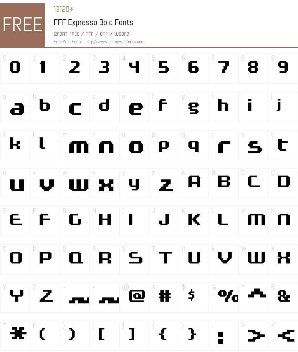 FFF Expresso Bold Font Screenshots