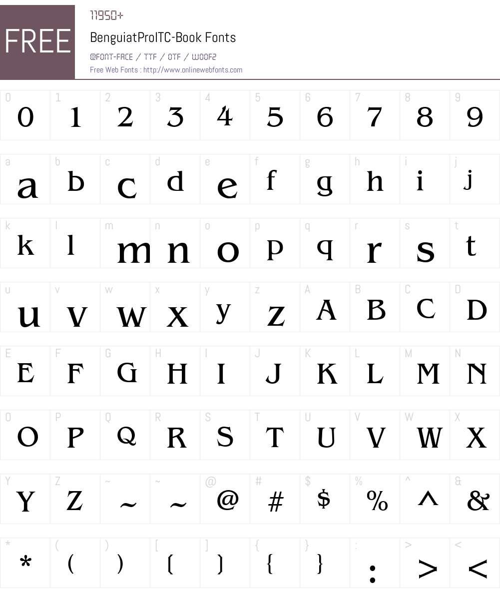 BenguiatProITC-Book Font Screenshots