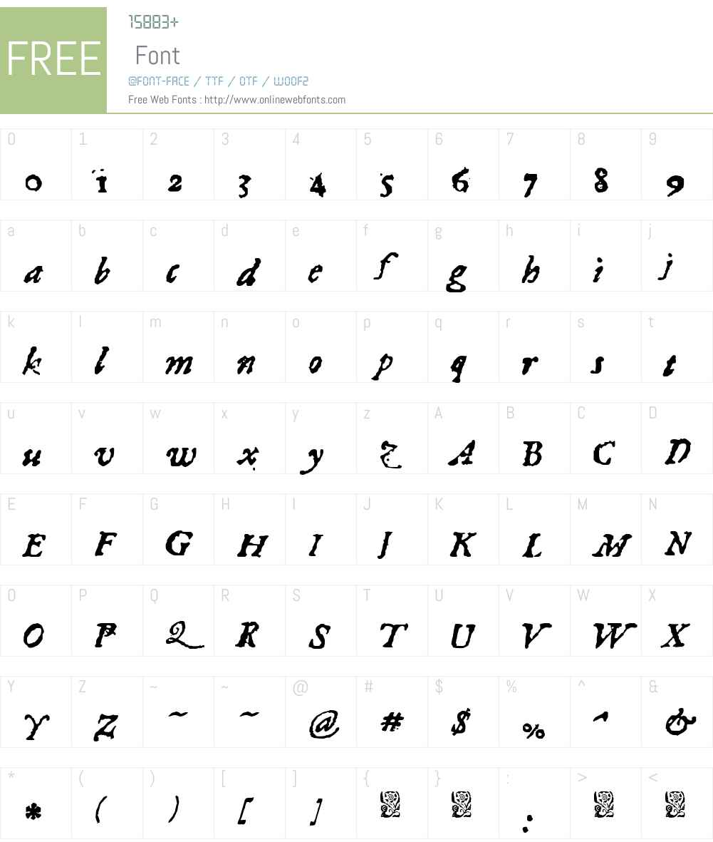 1689 Almanach Font Screenshots