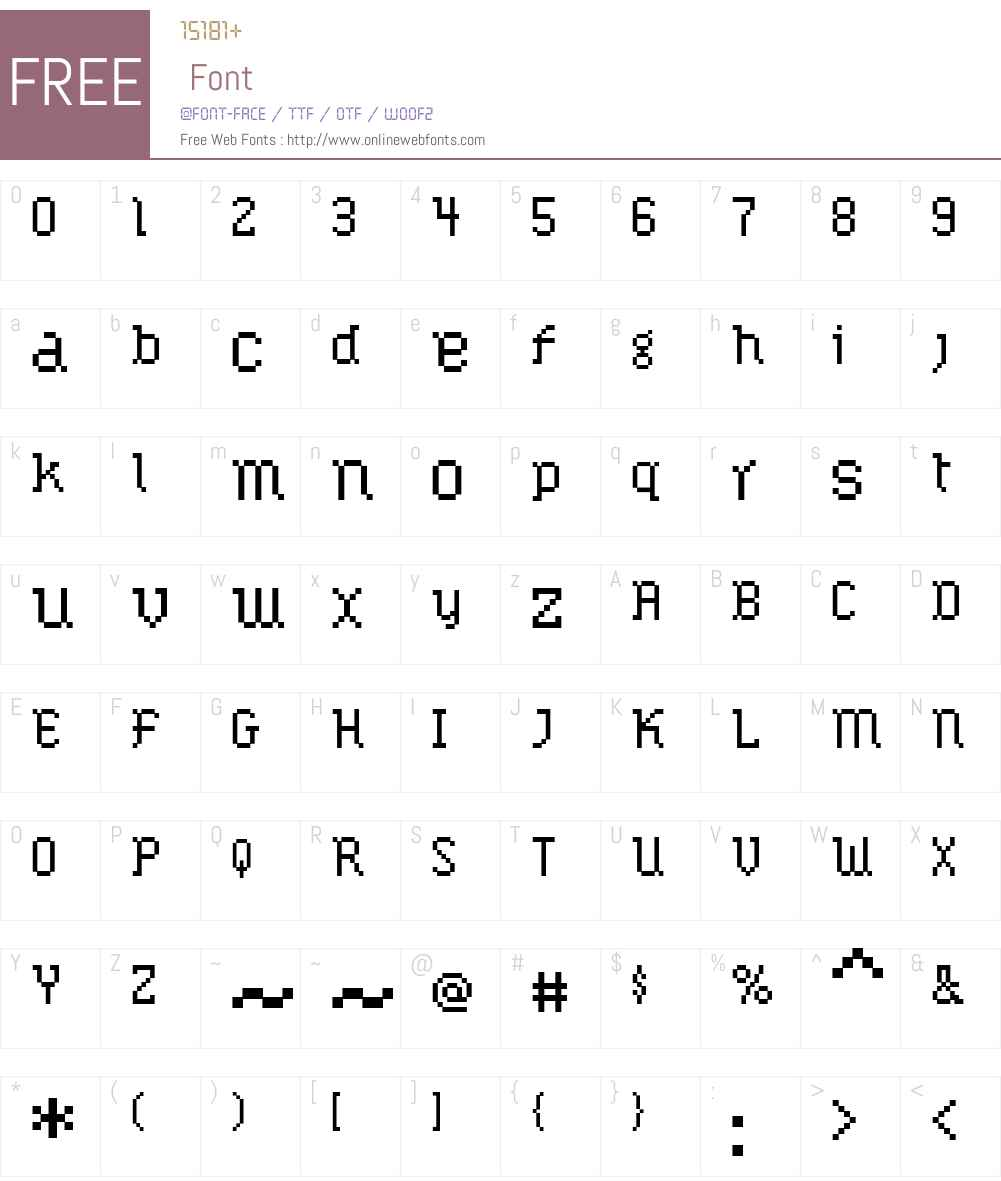 Lemoine Font Screenshots