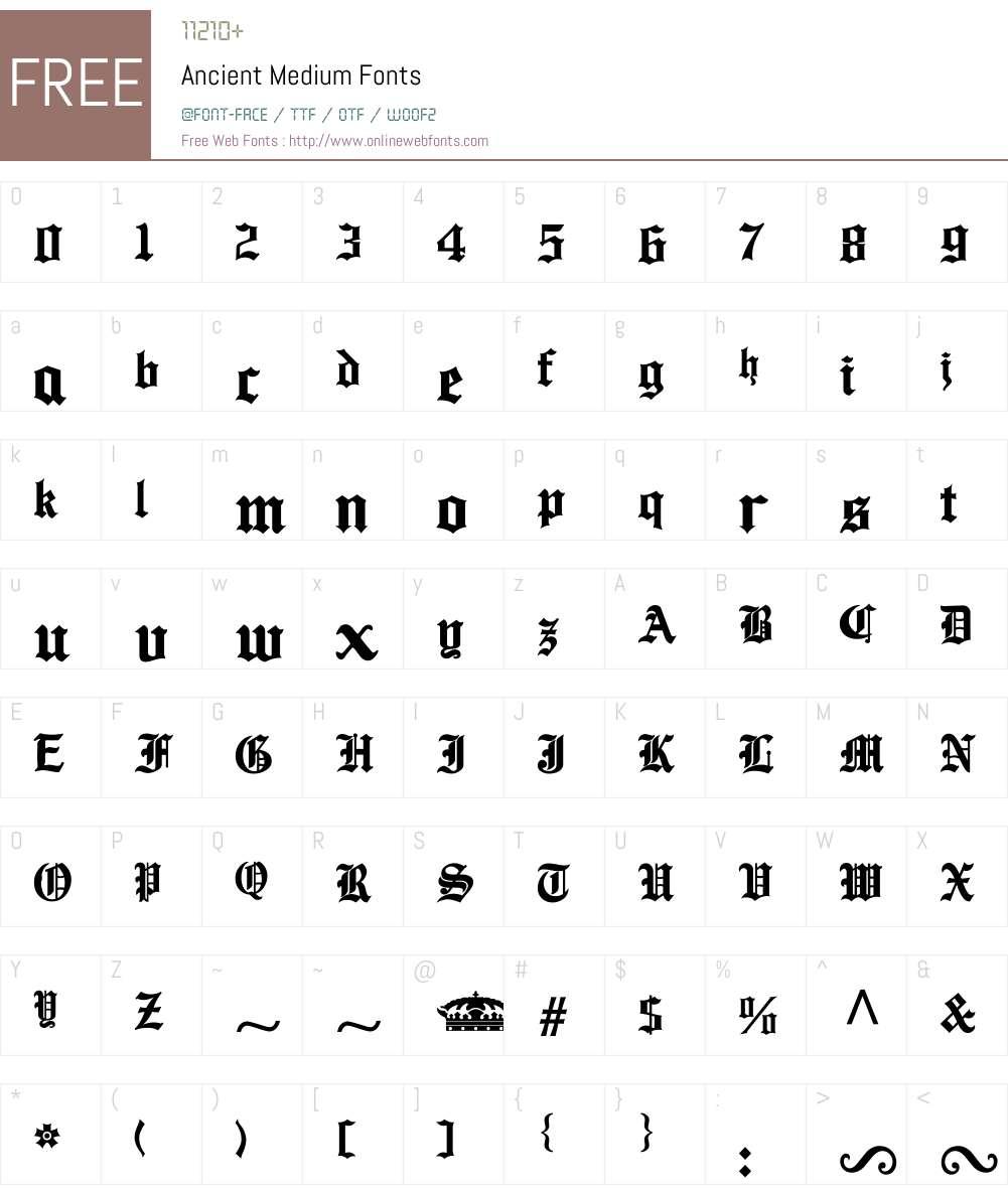 Ancient Font Screenshots