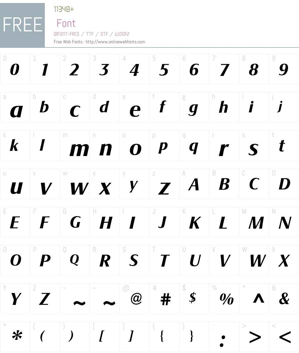 Signata BQ Font Screenshots